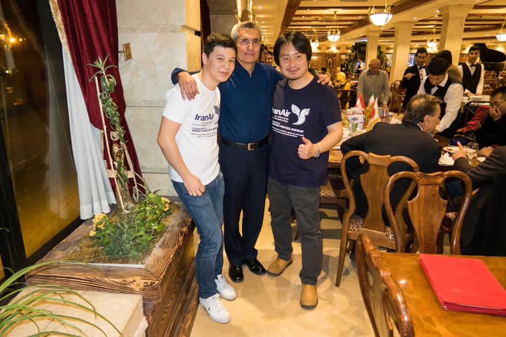 Yukihiro, Captain Moghadam and I