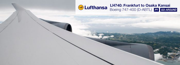LH 747-400 in PY with a Go Around (FRA-KIX)