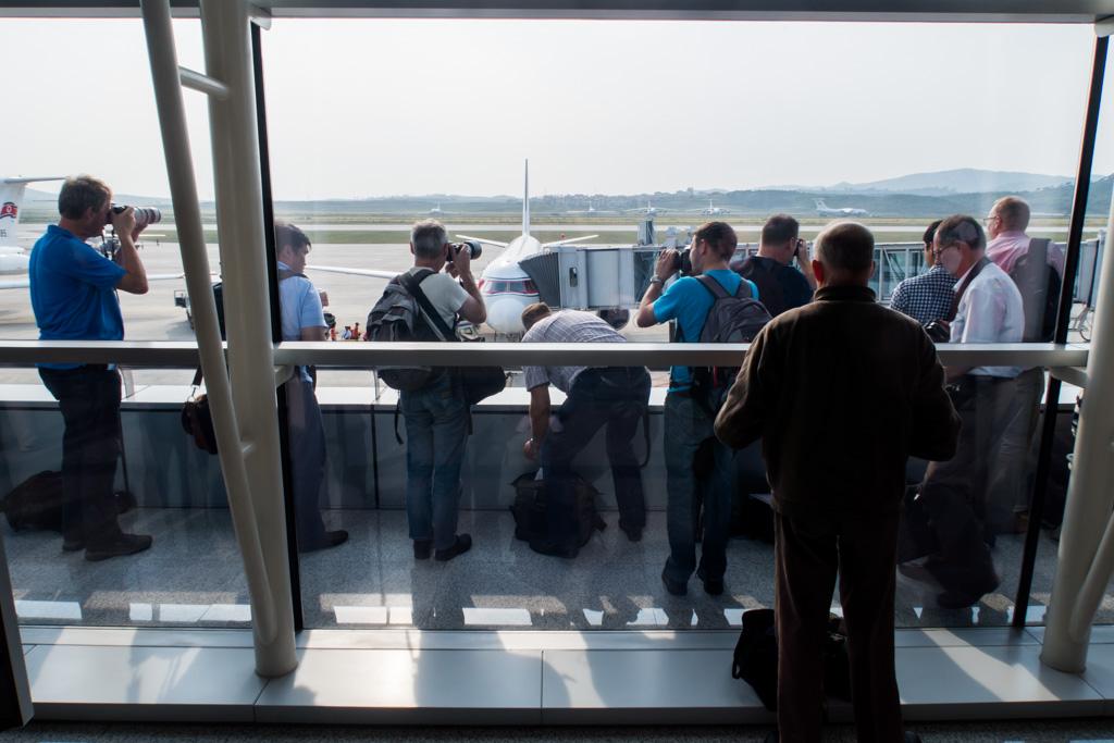 Pyongyang Airport Balcony