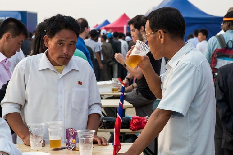 Locals Drinking Beer