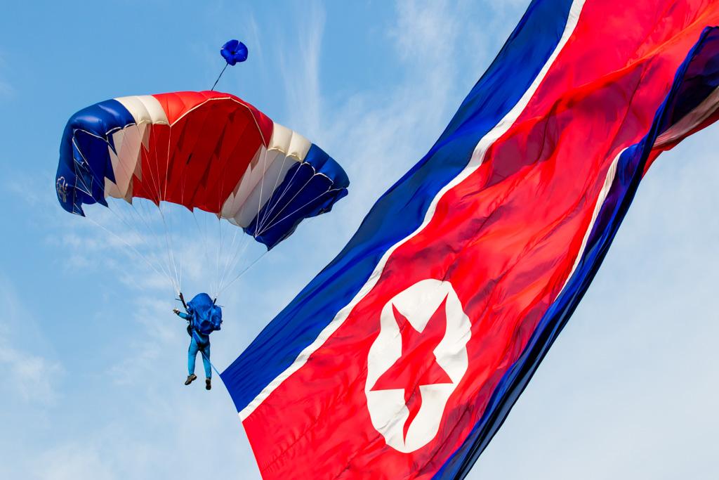 DPRK Flag Parachutist