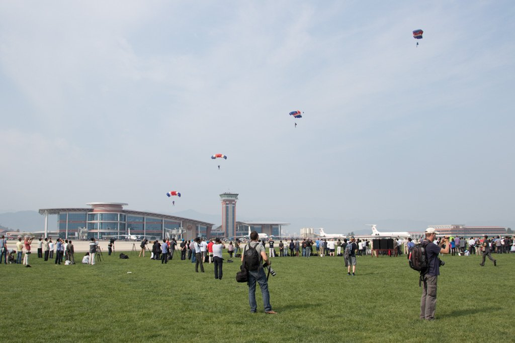 Group Parachutists