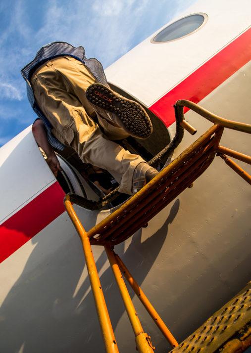 Boarding the Tu-134