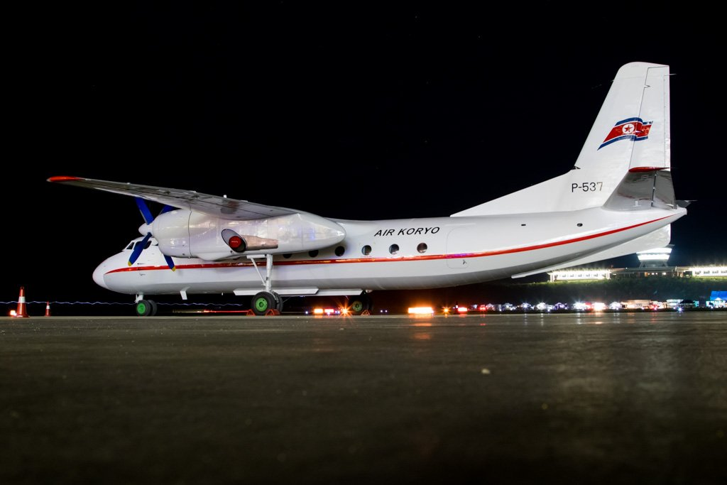Air Koryo An-24 at Night