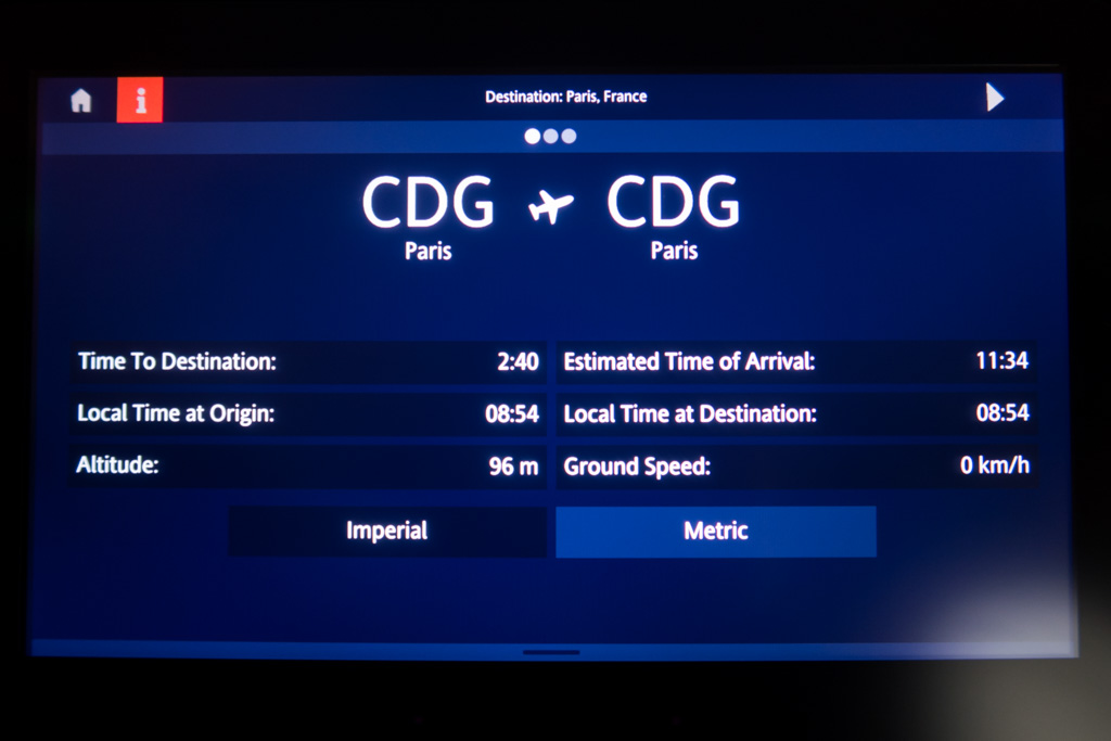 Flight Information Screen