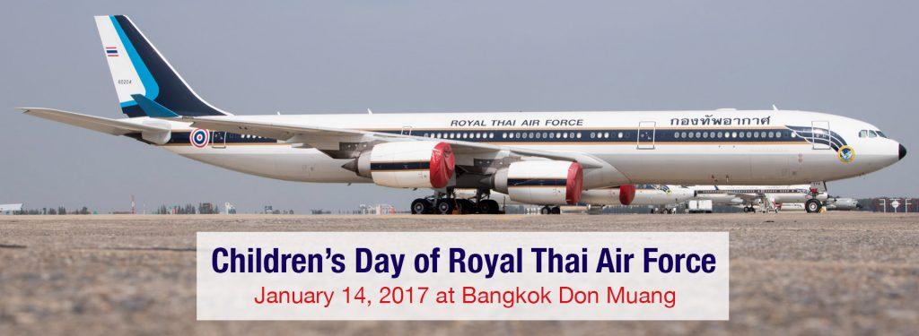 Children's Day of Royal Thai Air Force 2017 at Bangkok Don Muang