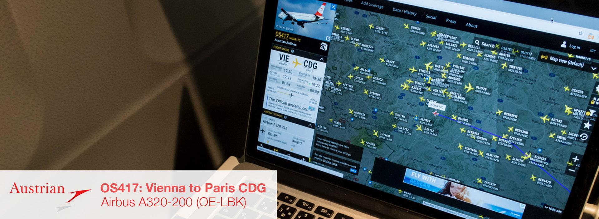 Austrian Airlines A320 Vienna Paris Review