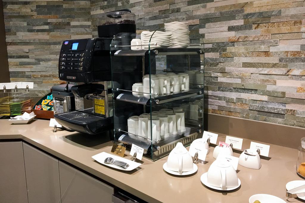 Coffee in The Emirates Lounge Tokyo Narita
