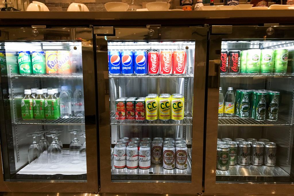 Soft Drinks in The Emirates Lounge Tokyo Narita