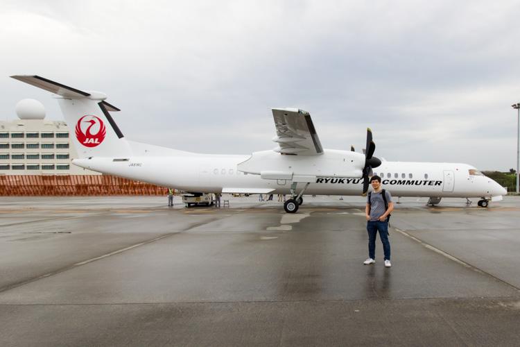 Ryukyu Air Commuter Bombardier Q400CC Inaugural