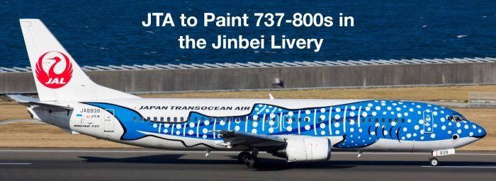 Japan Transocean Air (JTA) to Paint 737-800s in the Jinbei Livery