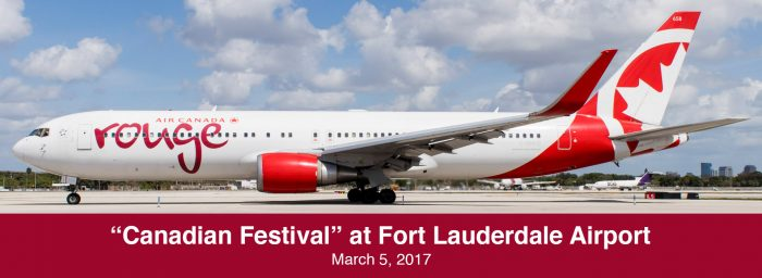 "Spotting Report: ""Canadian Festival"" at Fort Lauderdale Airport"