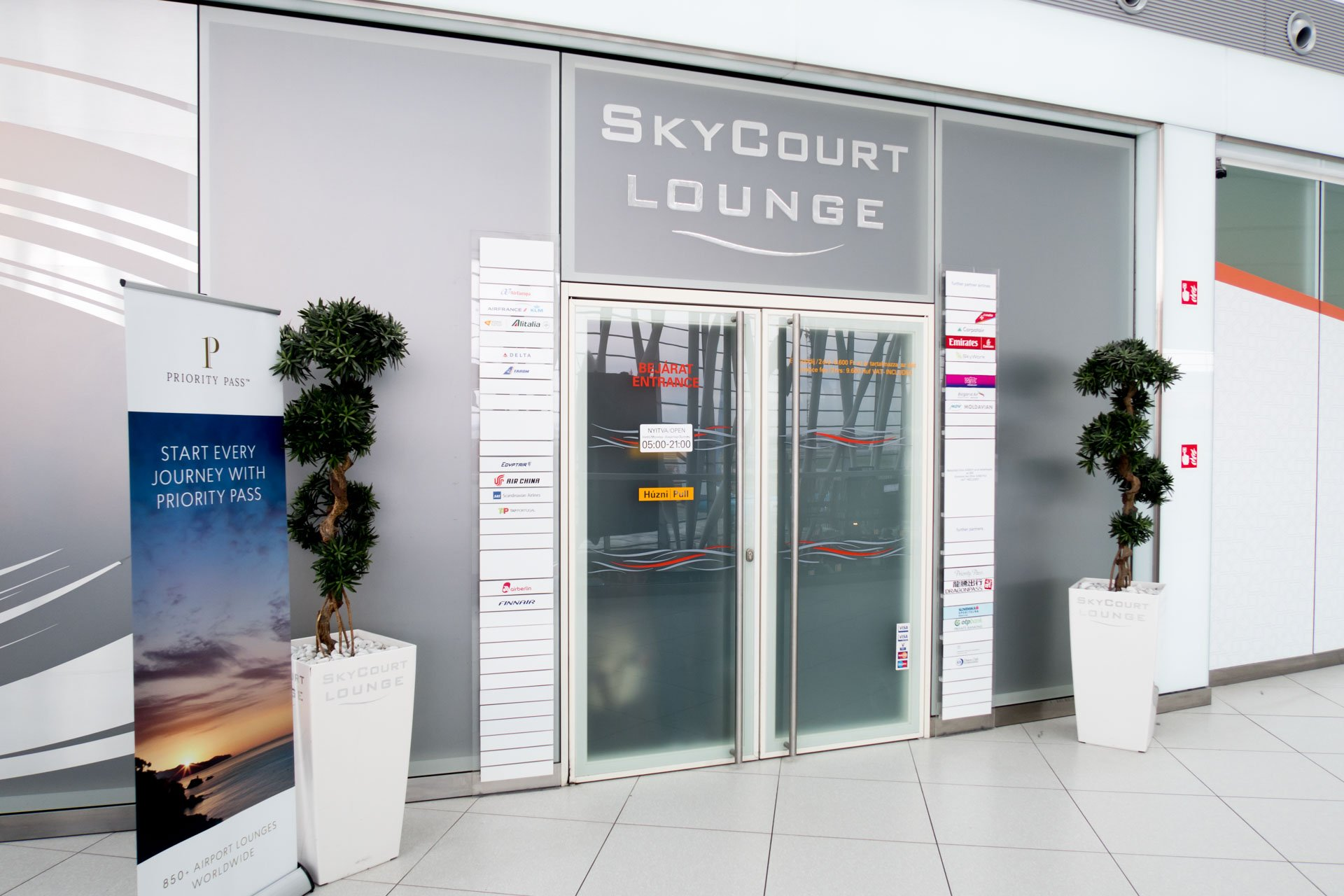 Sky Court Lounge Entrance