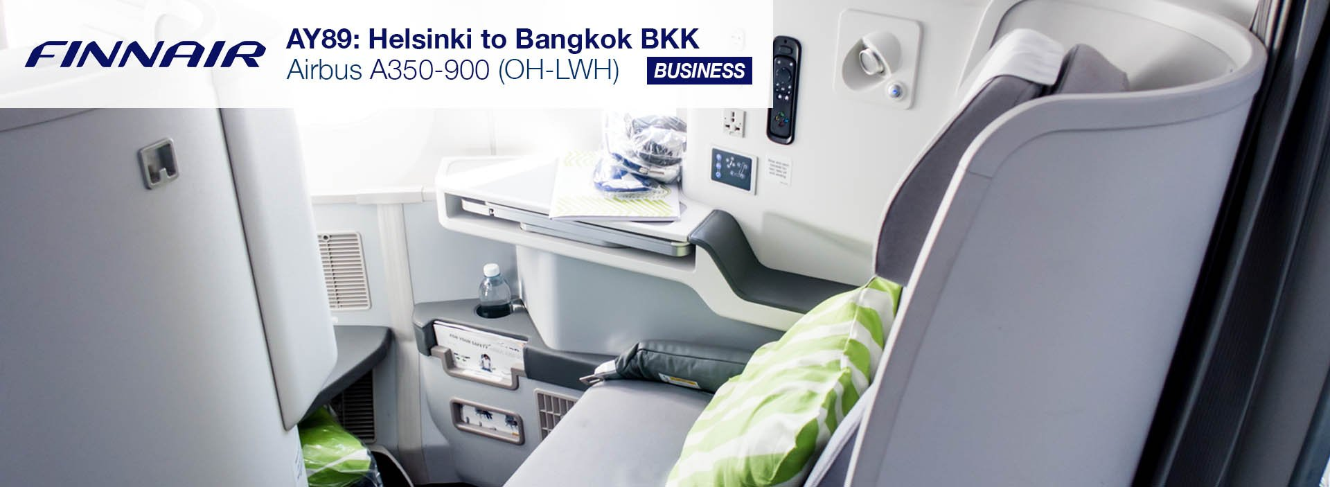 Finnair A350 Business Class Review (Helsinki to Bangkok)