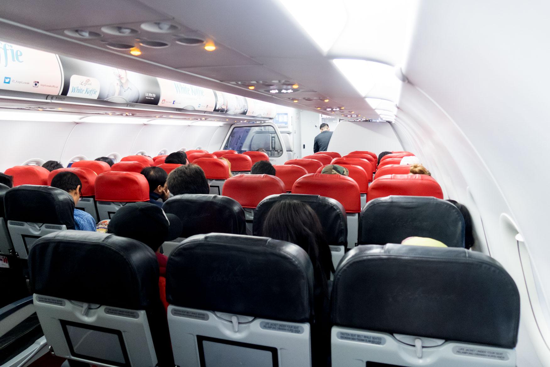 Indonesia AirAsia A320 Cabin