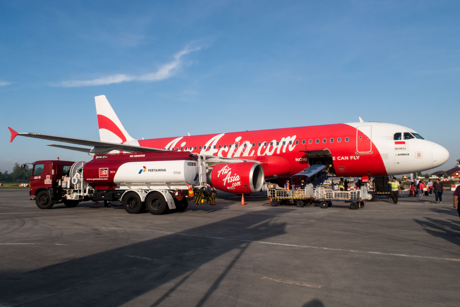 Indonesia AirAsia A320 in Yogyakarta