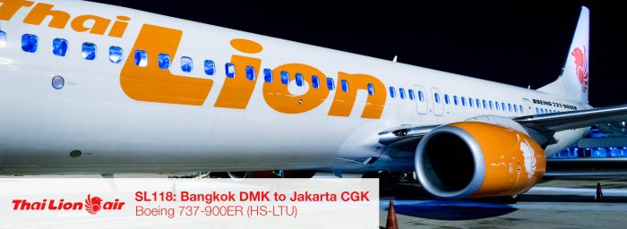 Flight Report: Thai Lion Air 737-900ER from Bangkok DMK to Jakarta CGK