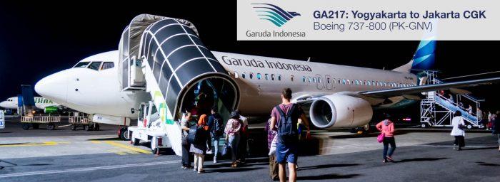 Flight Report: Garuda Indonesia 737-800 from Yogyakarta to Jakarta CGK