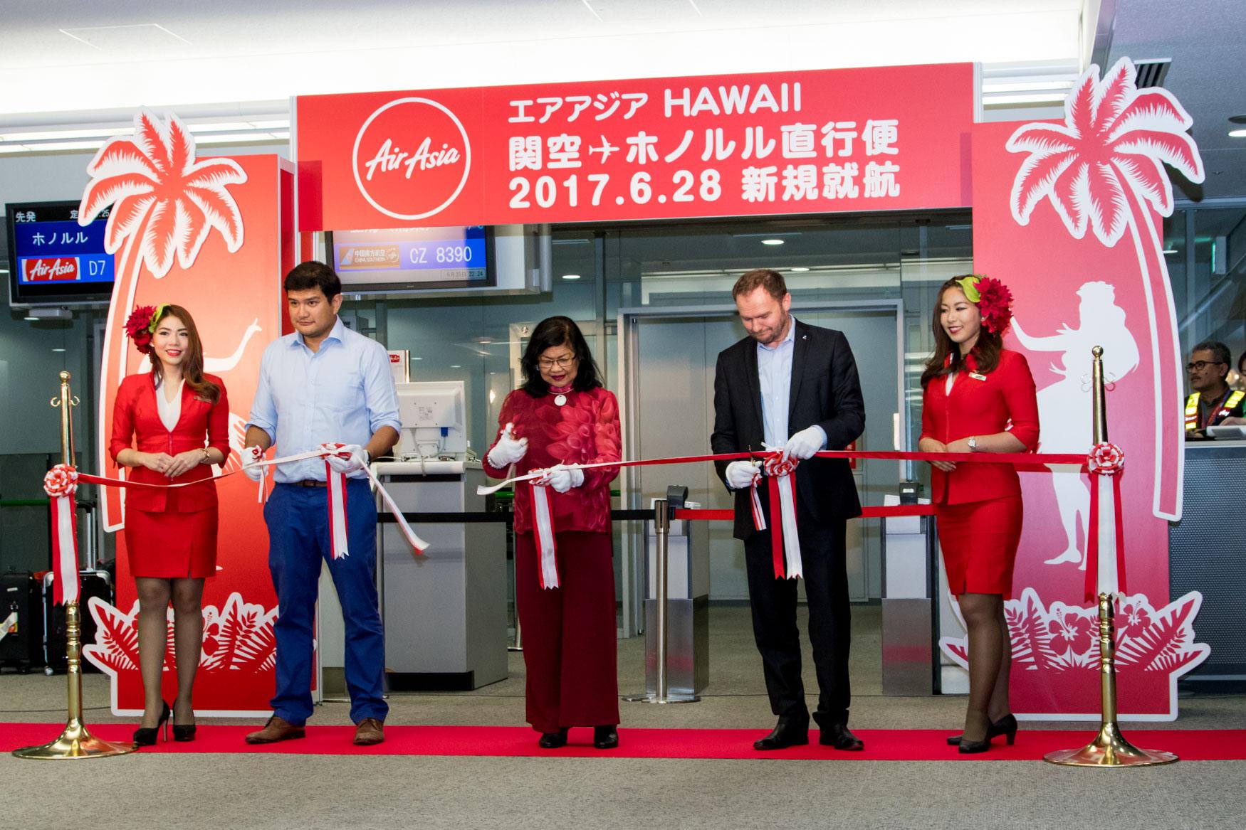 AirAsia X Osaka to Honolulu Tape Cut