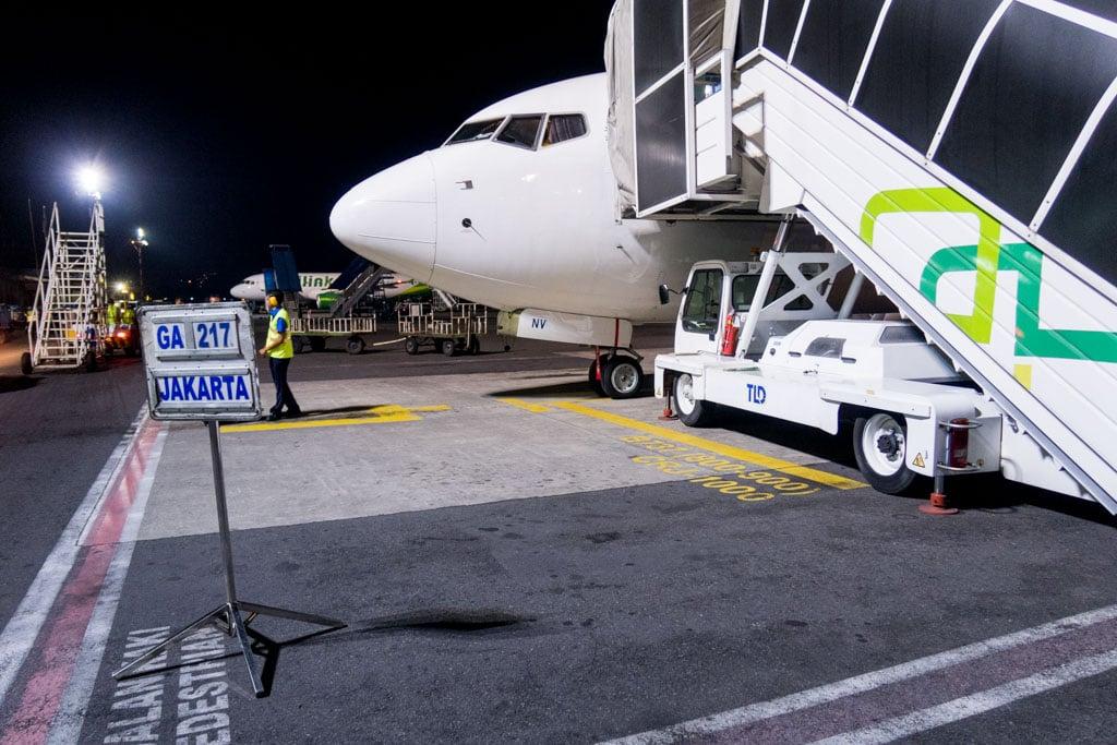 Flight GA217 to Jakarta