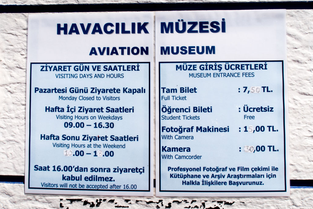 Istanbul Aviation Museum Opening Hours