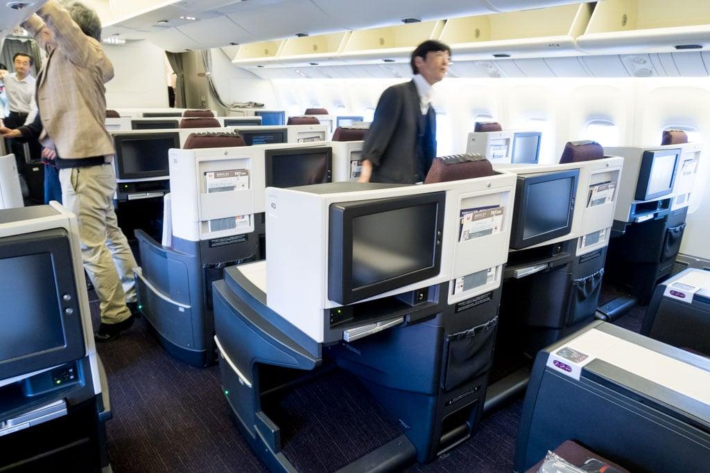 JAL 767-300ER Business Class Cabin