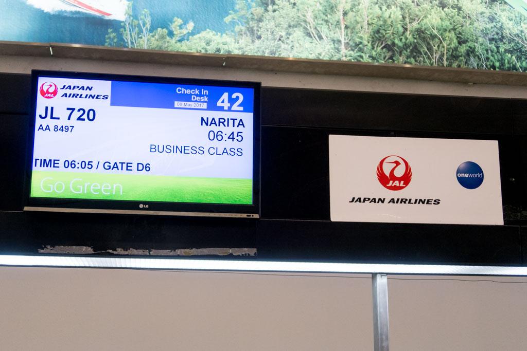JL720 to Tokyo Narita