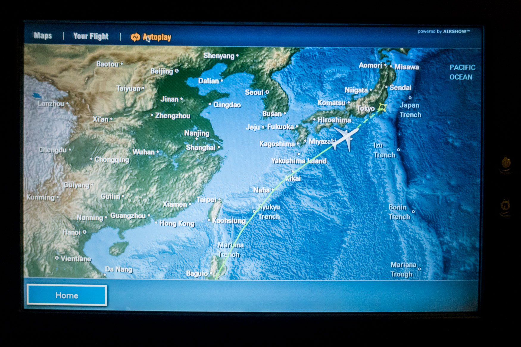 JAL In-Flight Map