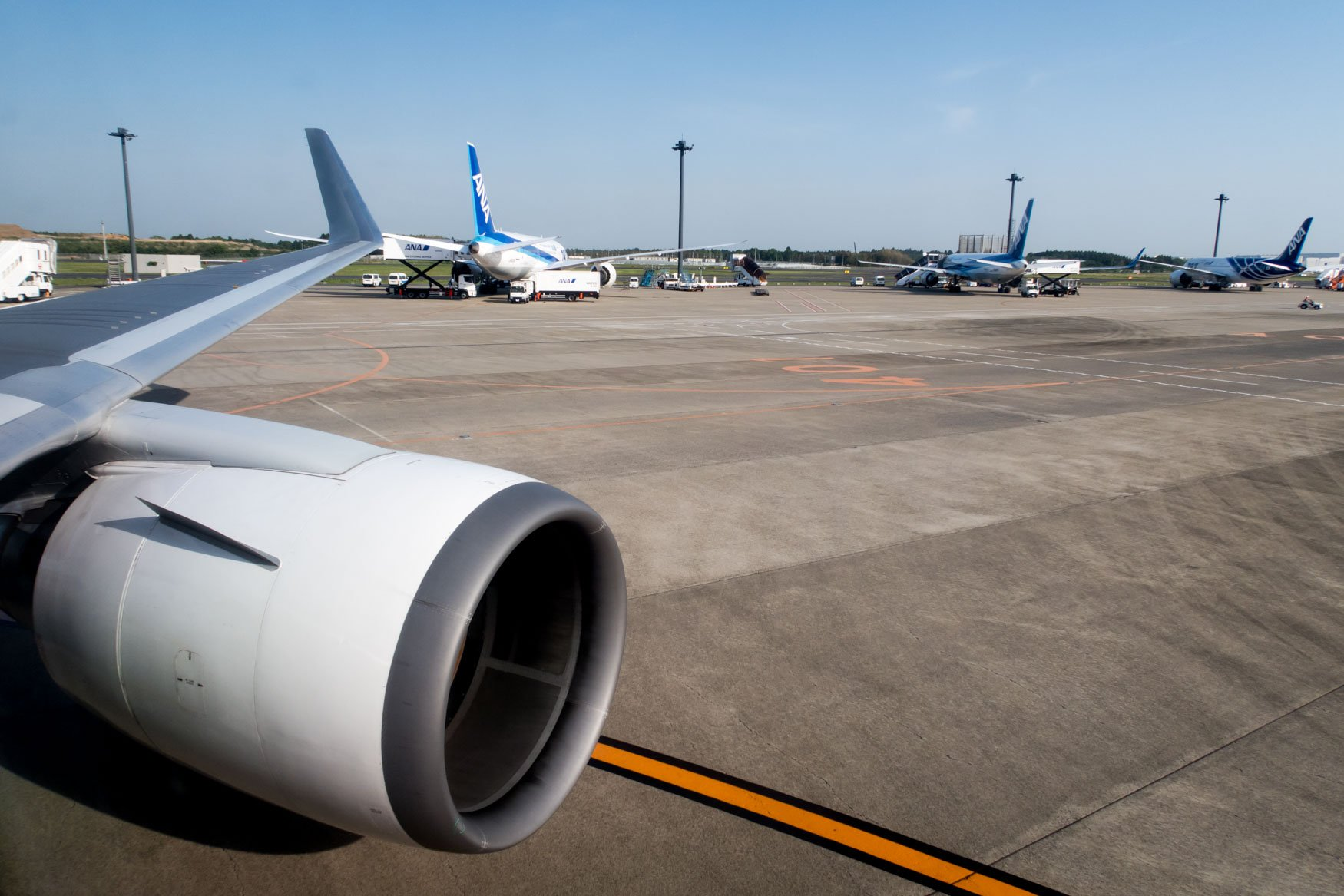 Taxiing to Gate