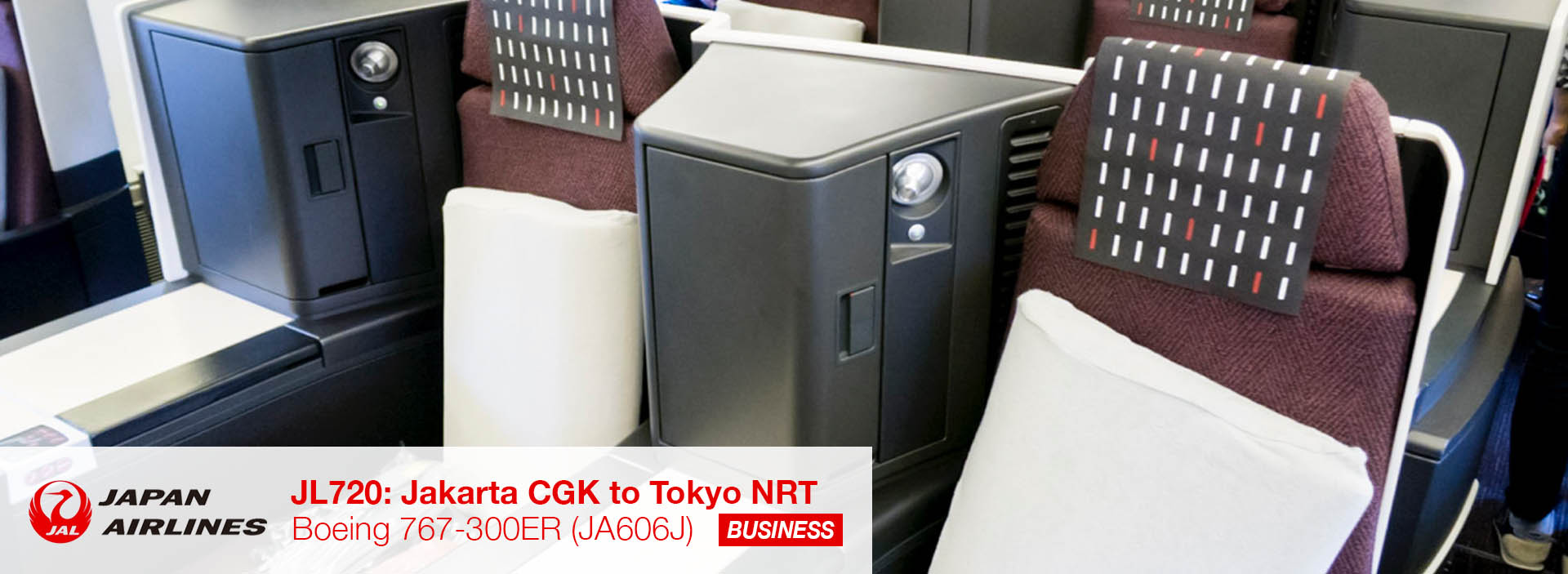 Review: JAL 767-300ER from Jakarta CGK to Tokyo NRT in Business