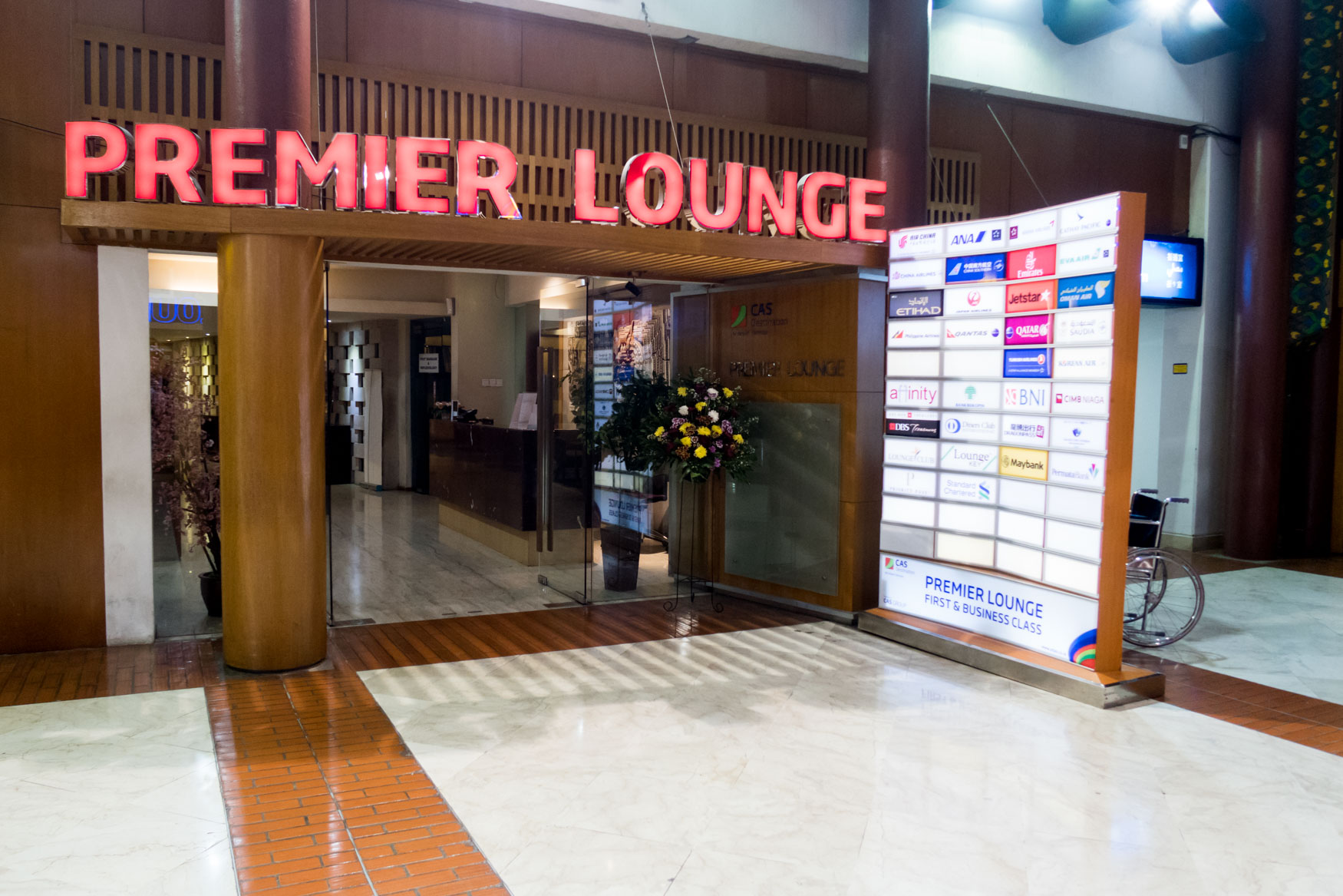 Premier Lounge Jakarta Entrance