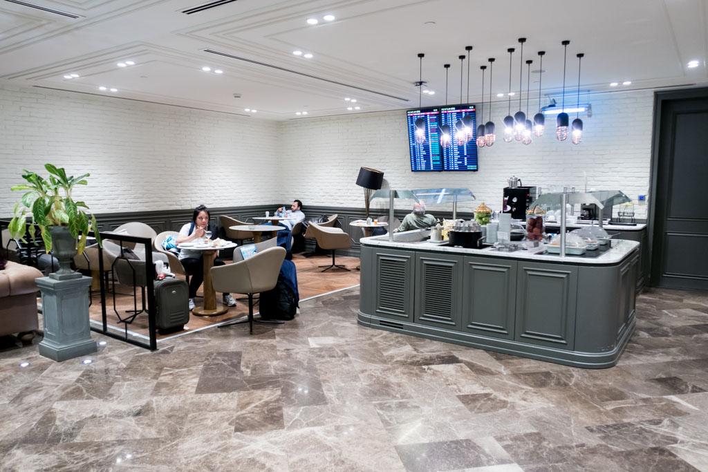 Primeclass CIP Lounge Dining Area