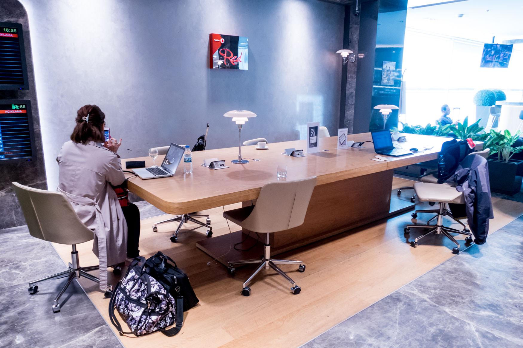 Primeclass CIP Lounge Workspace