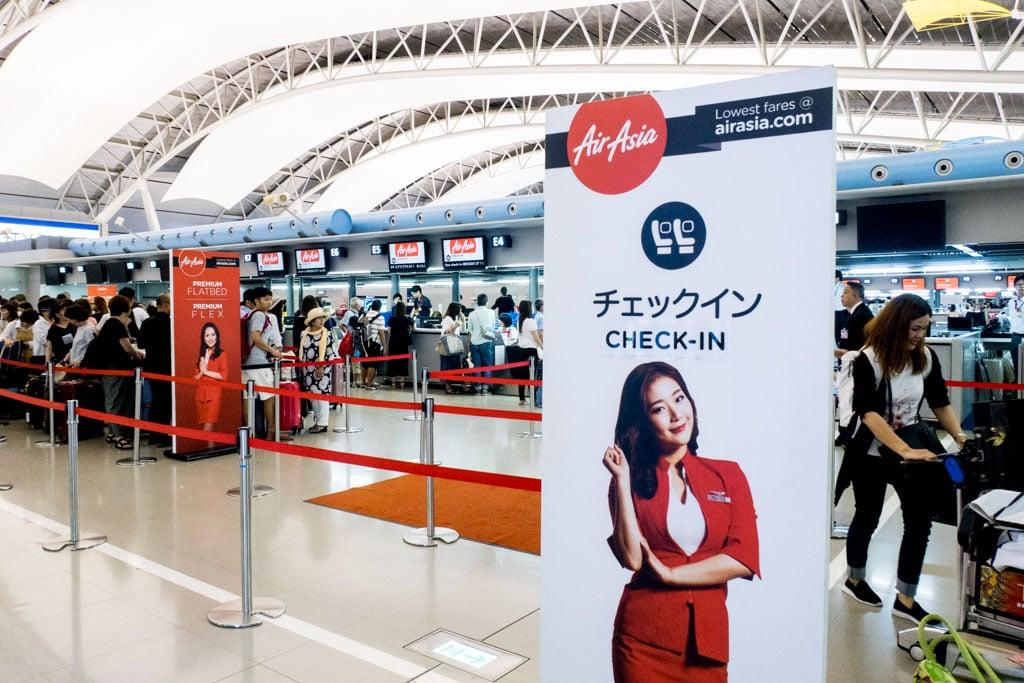 AirAsia X Check-In Counter at Kansai Airport