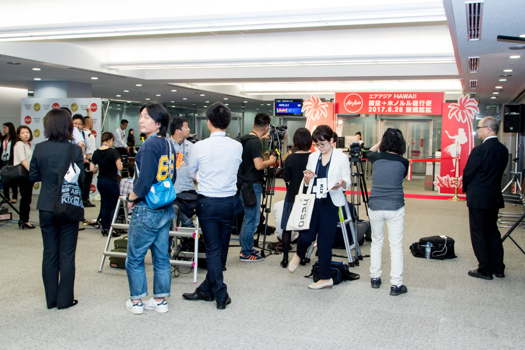 AirAsia X Inaugural to Honolulu Event Preparation