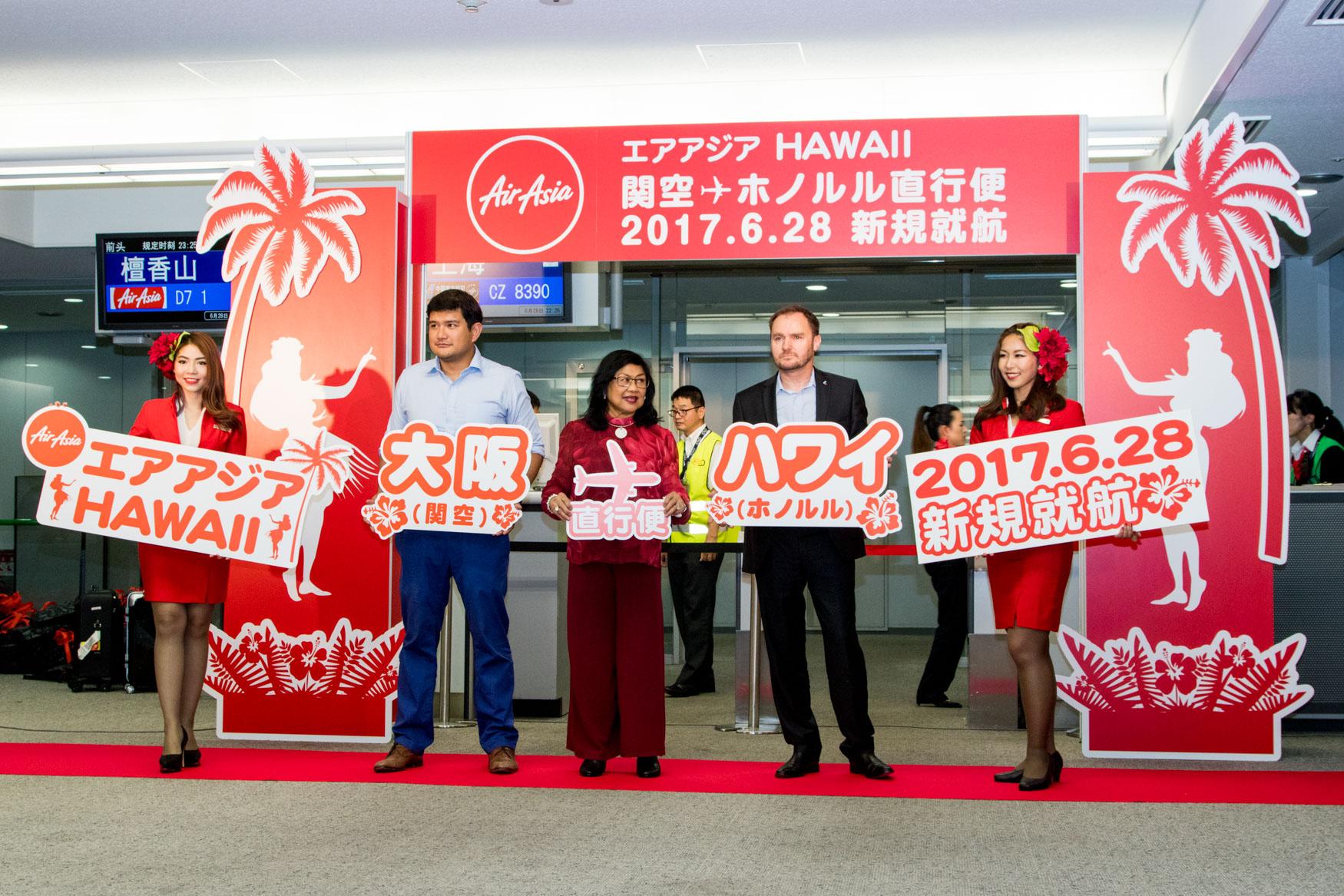 AirAsia X Inaugural Osaka to Honolulu Photo Shoot