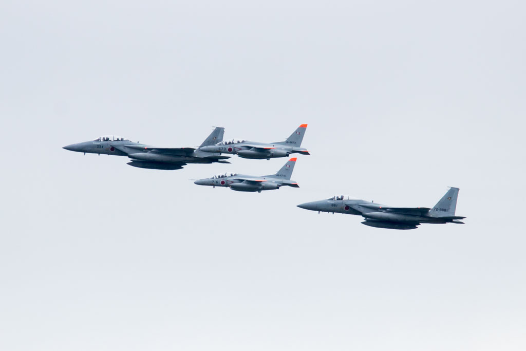 F-15 and T-4 Fly-Past