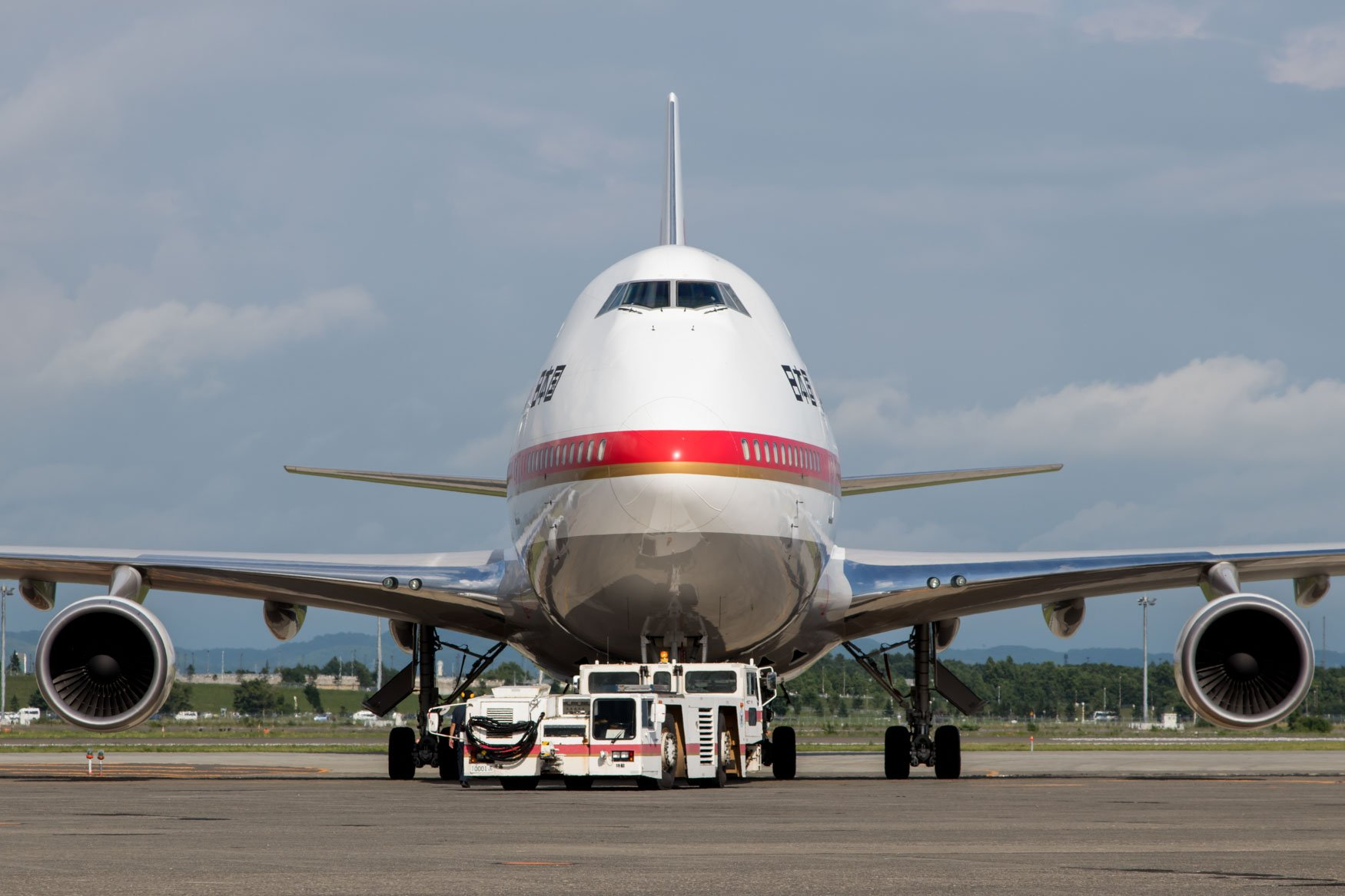 Head On with Japan Air Force 747