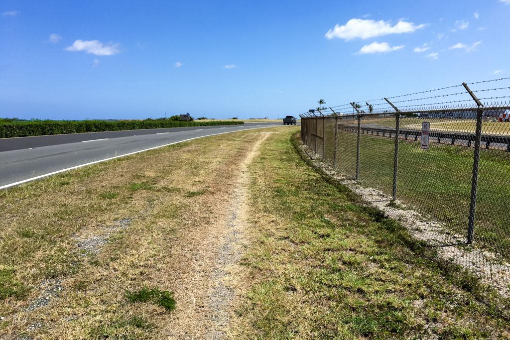 Walking to Lagoon Drive