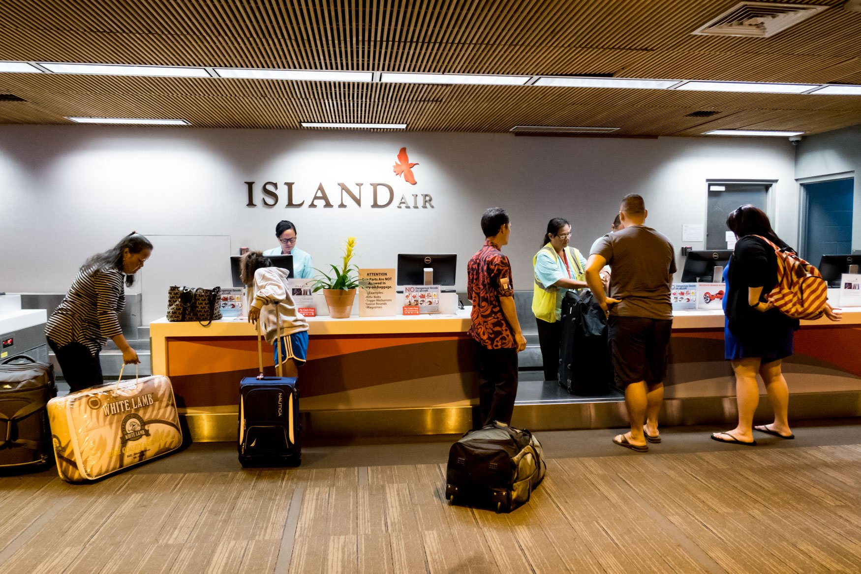 Island Air Check-In Counter