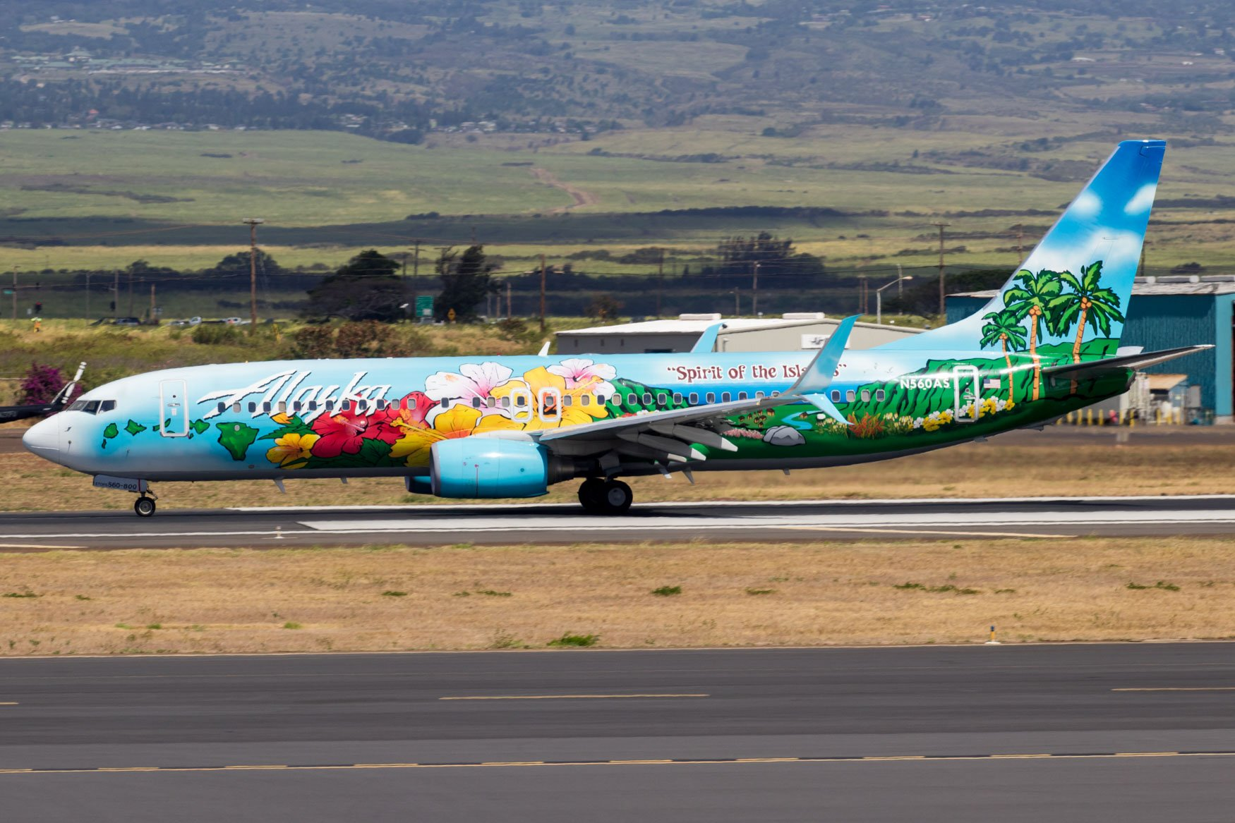 Alaska Airlines 737-800 Spirit of the Islands Livery