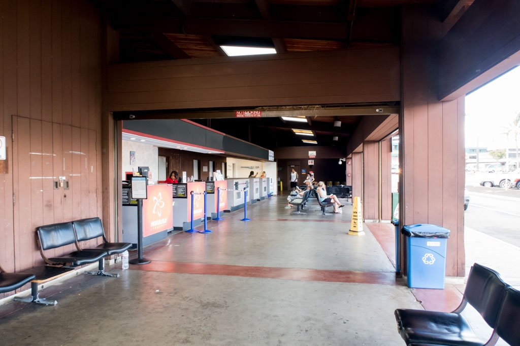 Kahului Airport Commuter Terminal Counters