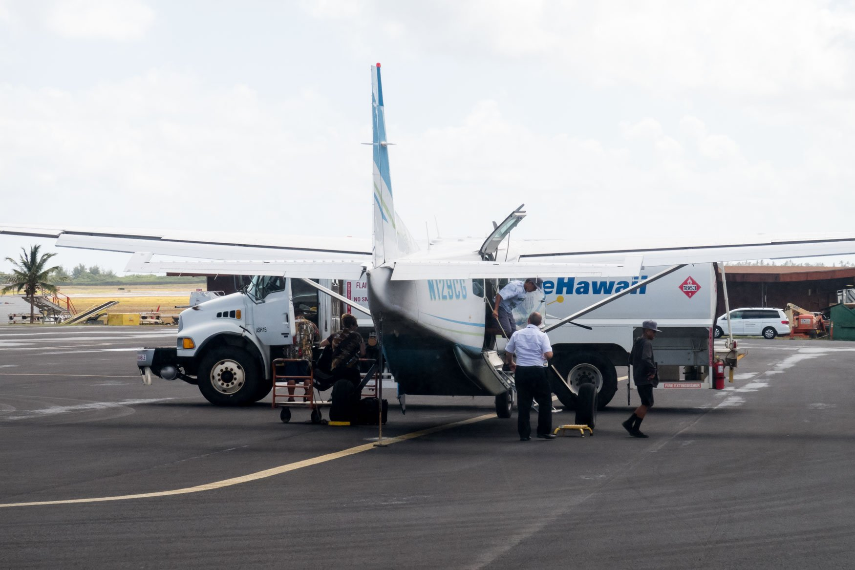 Makani Kai Air Grand Caravan After Arrival