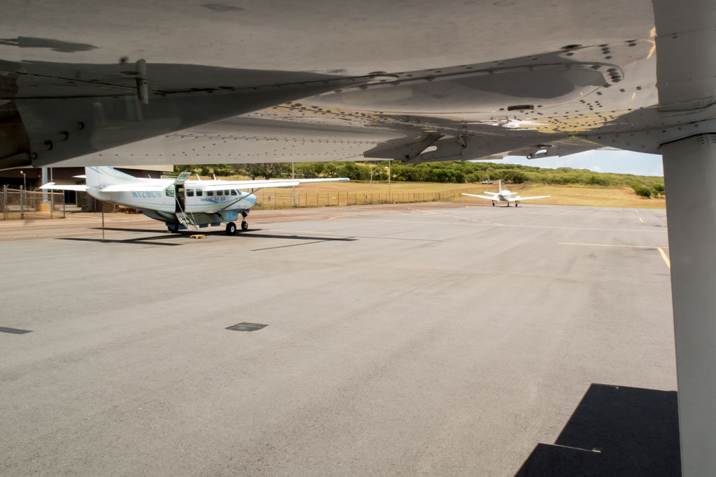 Taxiing Out of Molokai Airport Apron
