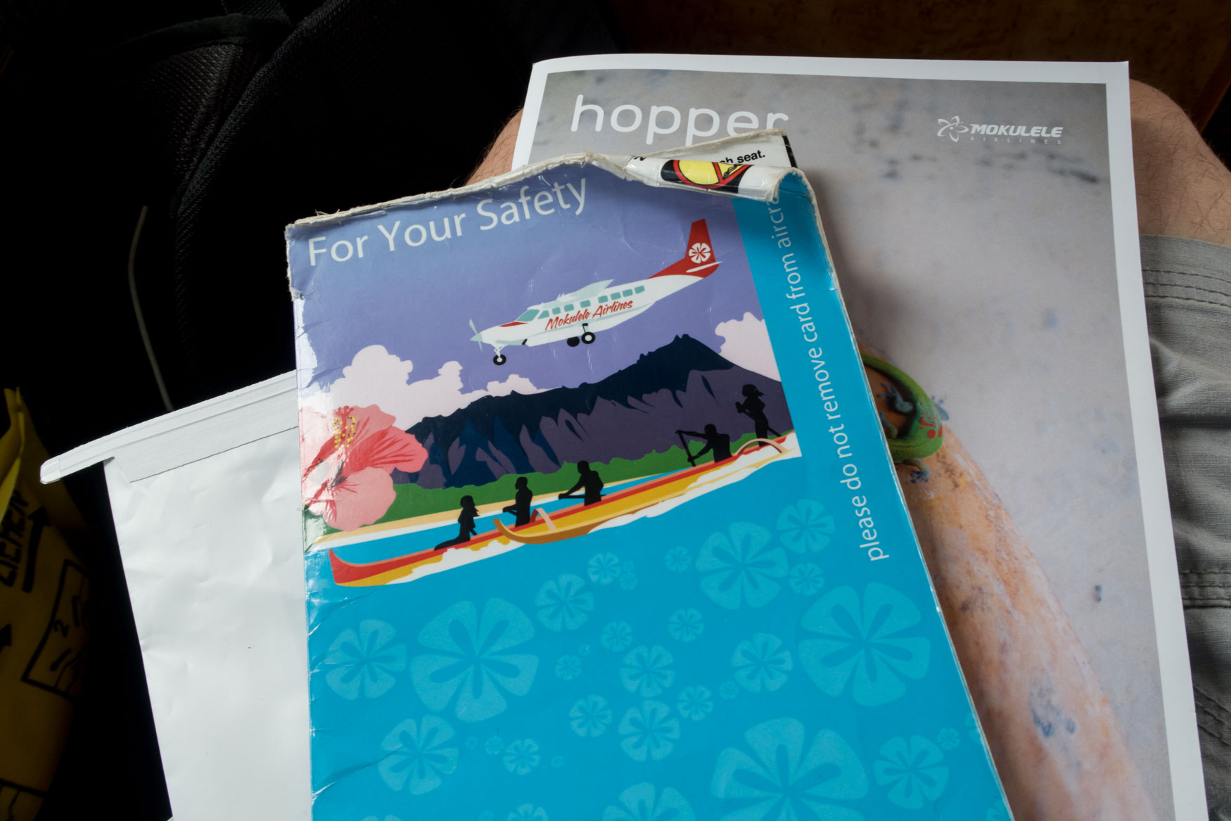 Mokulele Airlines Seat Pocket Contents