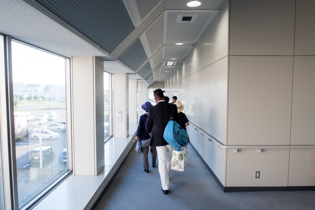 Walking to the Jetway