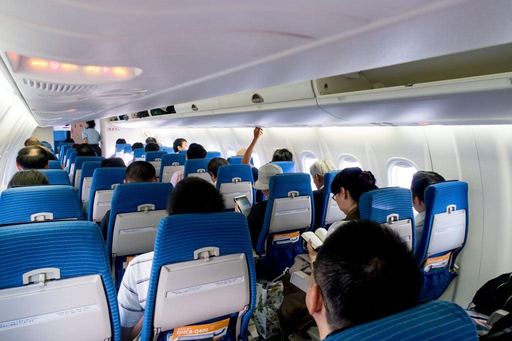 ANA Wings Dash 8 Q400 Cabin