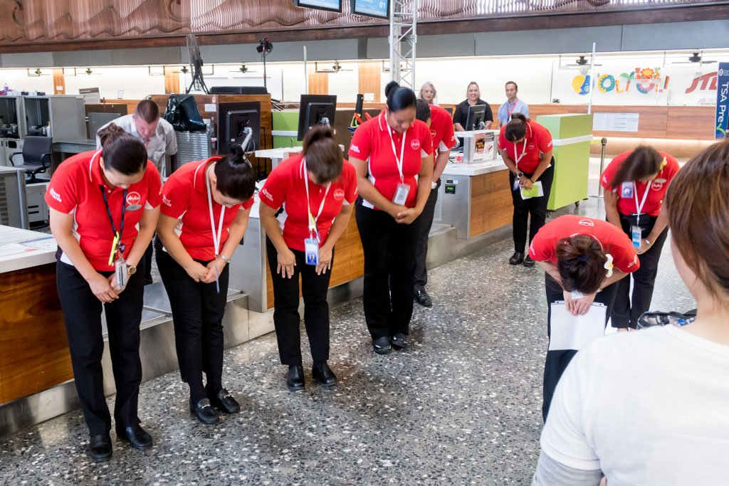 AirAsia X Staff at Honolulu Airport