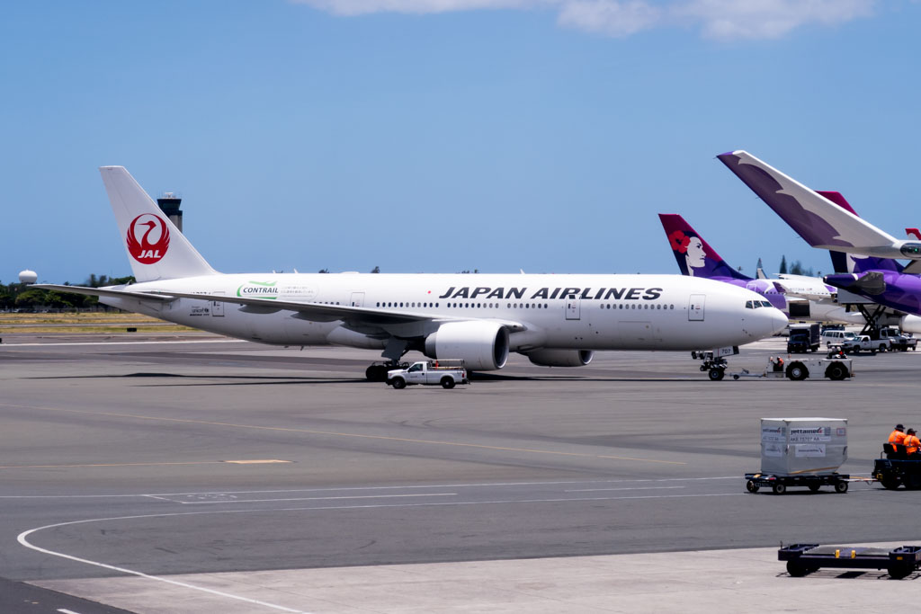 Japan Airlines 777-200 Pushing Back at Honolulu