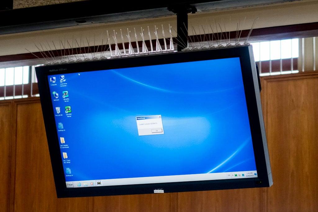 Airport Screen Error